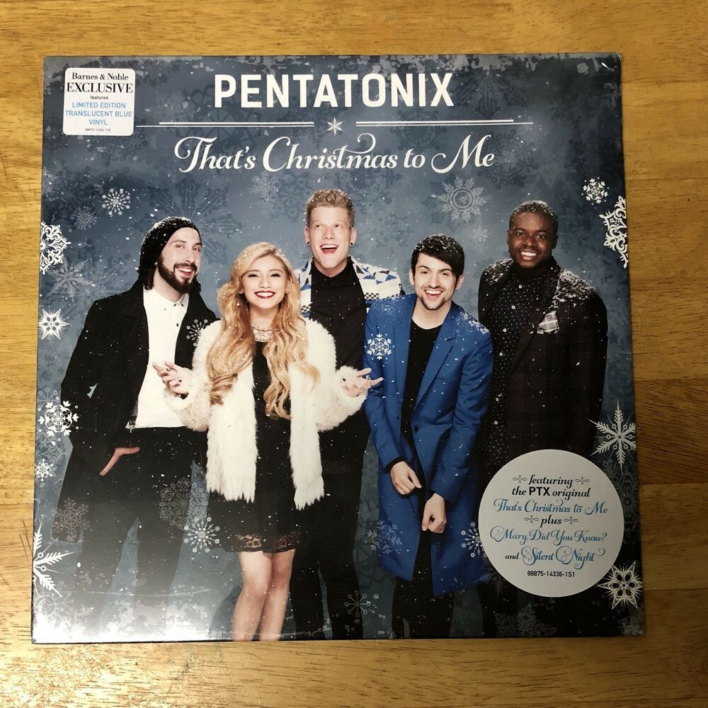 Thats Christmas To Me.Pentatonix That S Christmas To Me Lp Translucent Blue Vinyl