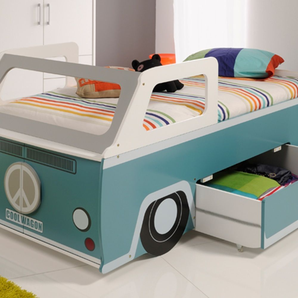 Toddlers Cool Wagon Bed With Storage Modern Unique Toddler Beds