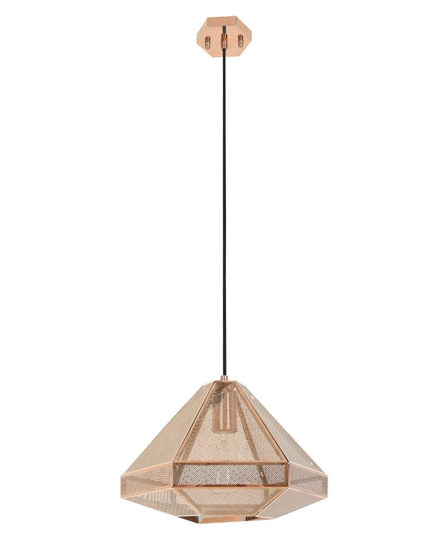 Beacon lighting elliot squat 1 light 220mm geometrical copper beacon lighting elliot squat 1 light 220mm geometrical copper pendant with copper mesh and black aloadofball Choice Image
