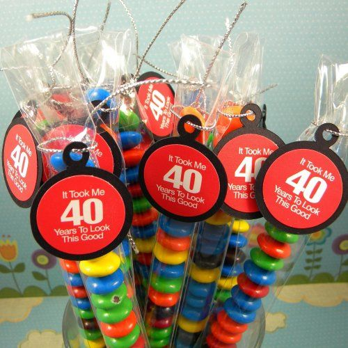 40th Birthday Candy Treat Bag Favors