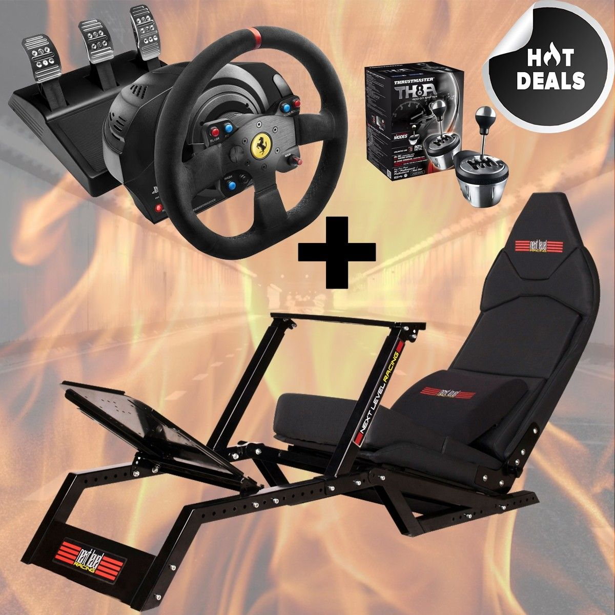 FGT + Thrustmaster T300 Alcantara Edtion + TH8A Shifter