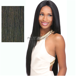 Empress Lace Front Edge Custom Lace Yaki 30 - Color 2 - Synthetic (Curling Iron Safe) Stocking Cap Custom Lace Wig - Closed Invisible Part