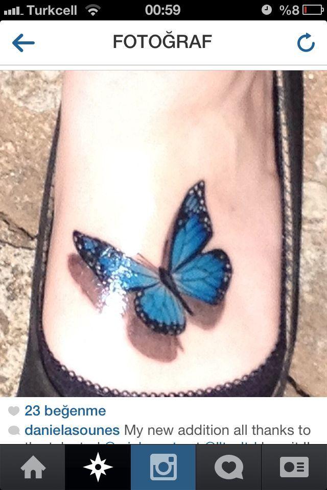 Butterfly Tattoo On Foot Google Search Tattoos Pinterest