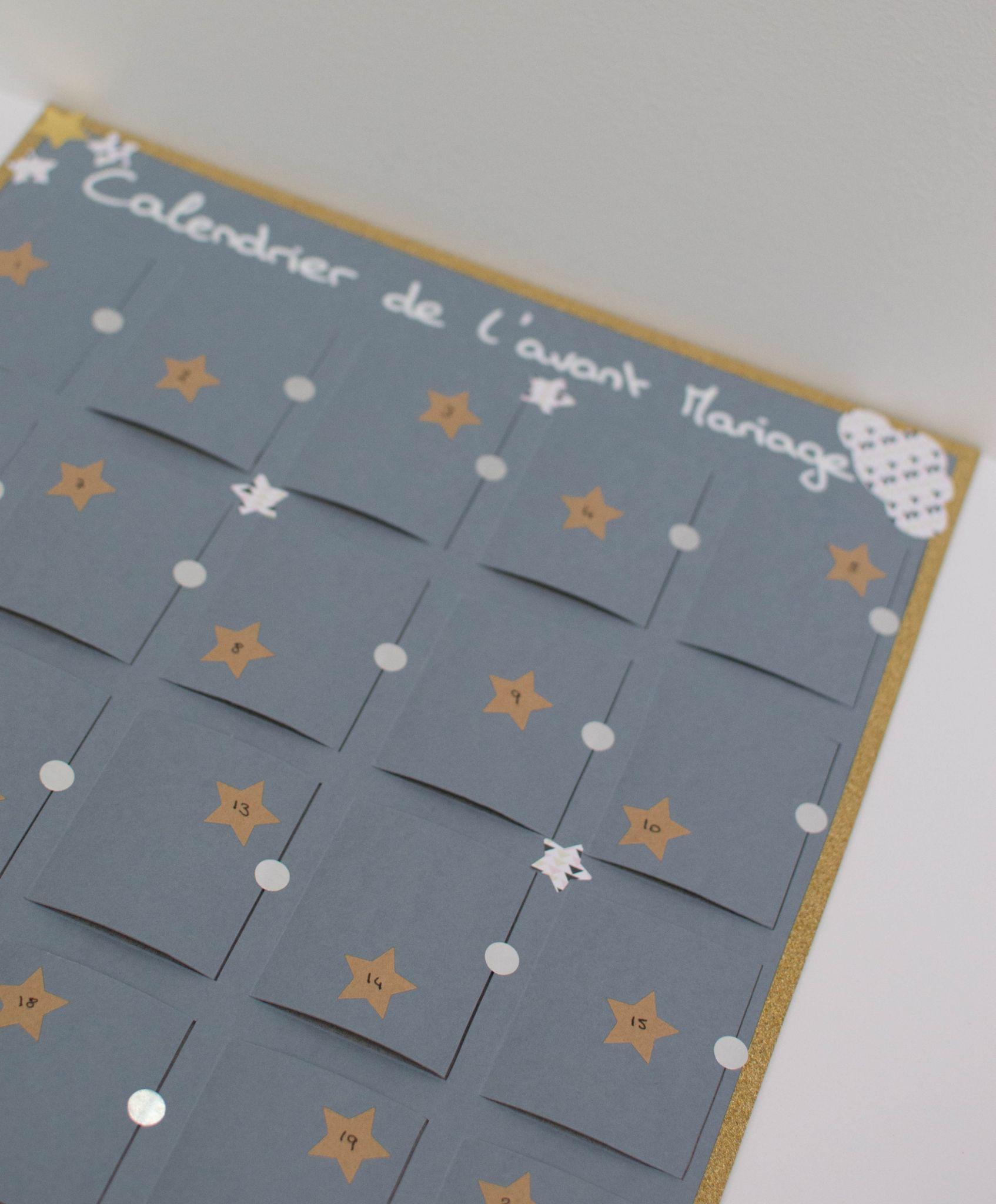 calendrier de l 39 avant mariage cadeau t moin pour future mari e le nuage passe mon blog. Black Bedroom Furniture Sets. Home Design Ideas