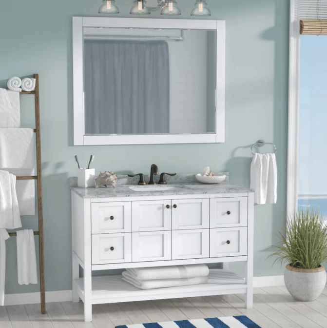 Caldwell 48 Single Bathroom Vanity Set With Mirror 48 Inch