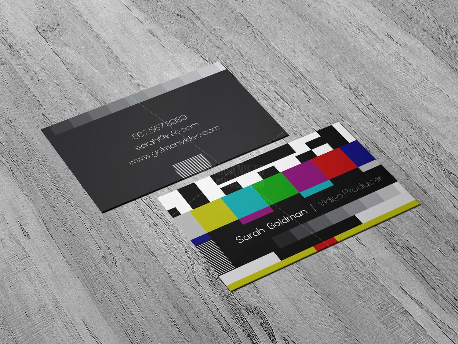 YouTube Video Producer Business Cards/ Social Media/ Animator