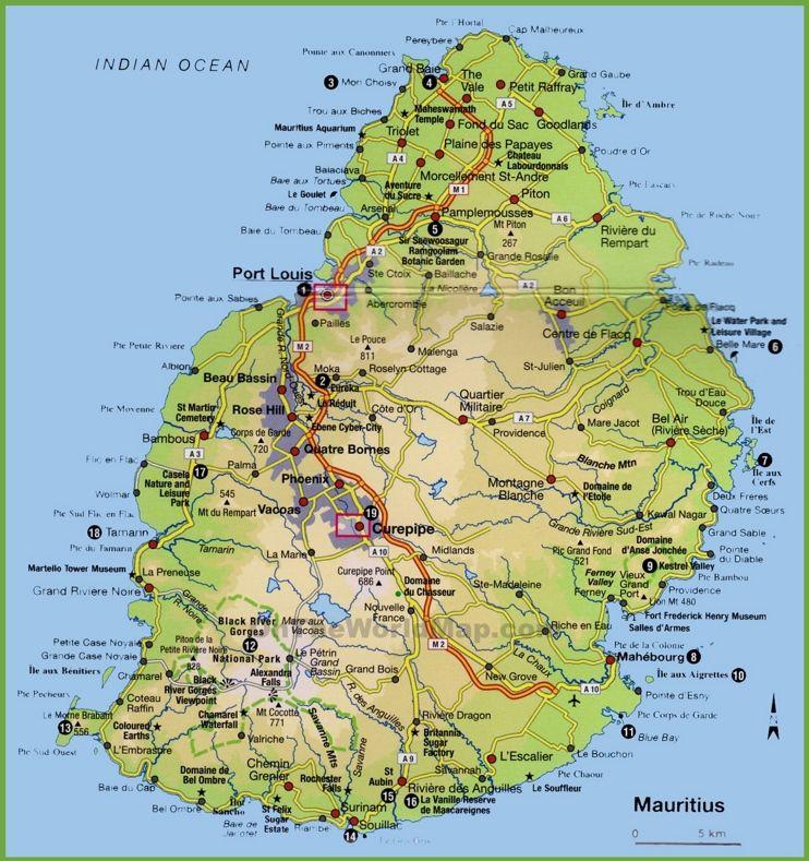 Mauritius Tourist Map Ile Maurice Maurice Ile Maurice Voyage