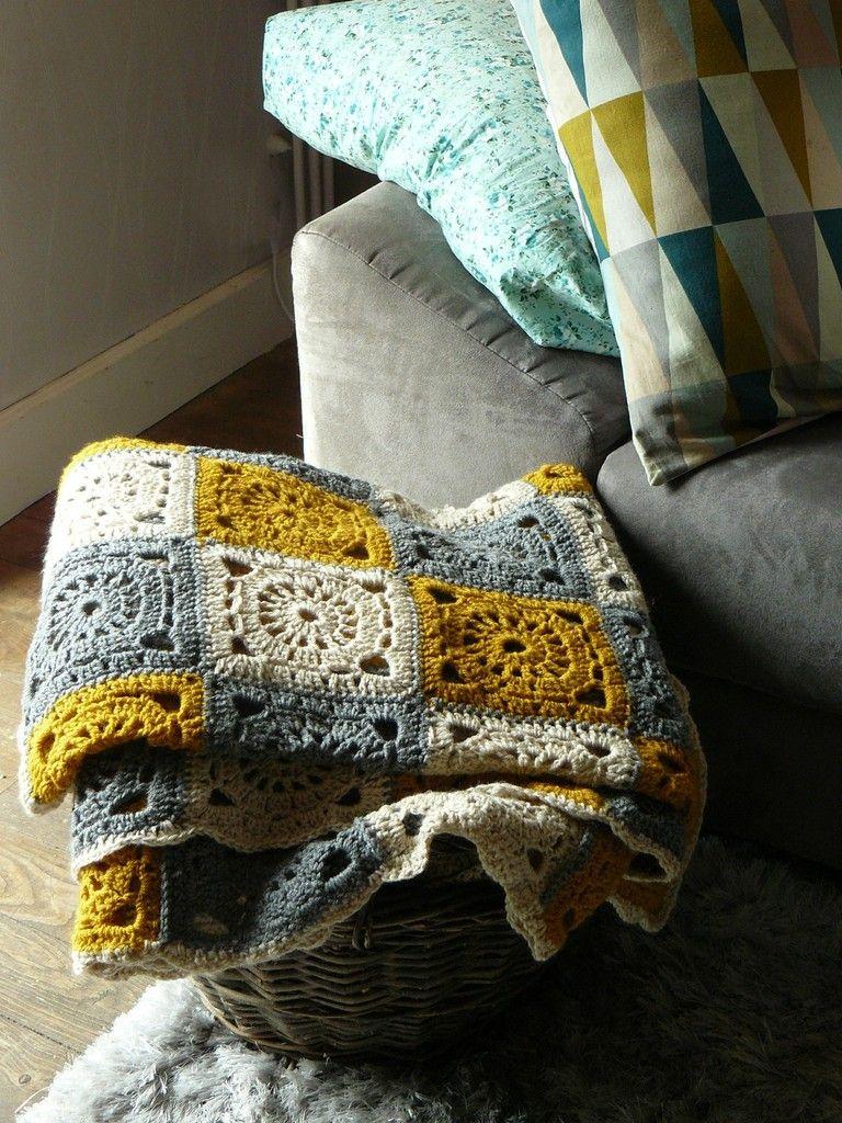 Faire un plaid au crochet. | Häkeln, Stricken und häkeln und ...