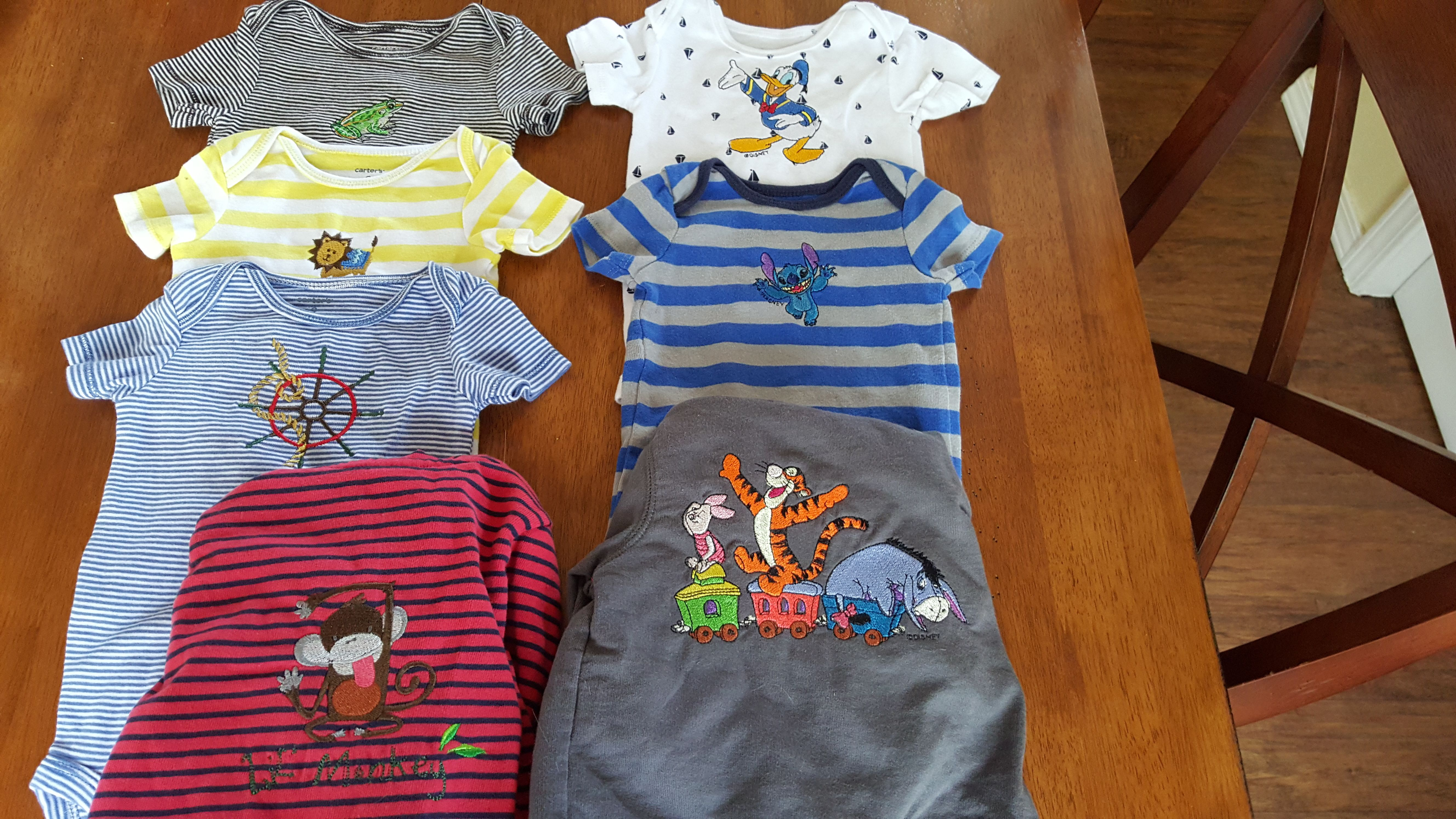 Thayne's onesies from his uncle B and Andy.