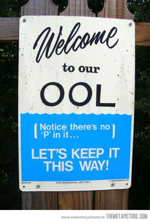 there is no P in pool