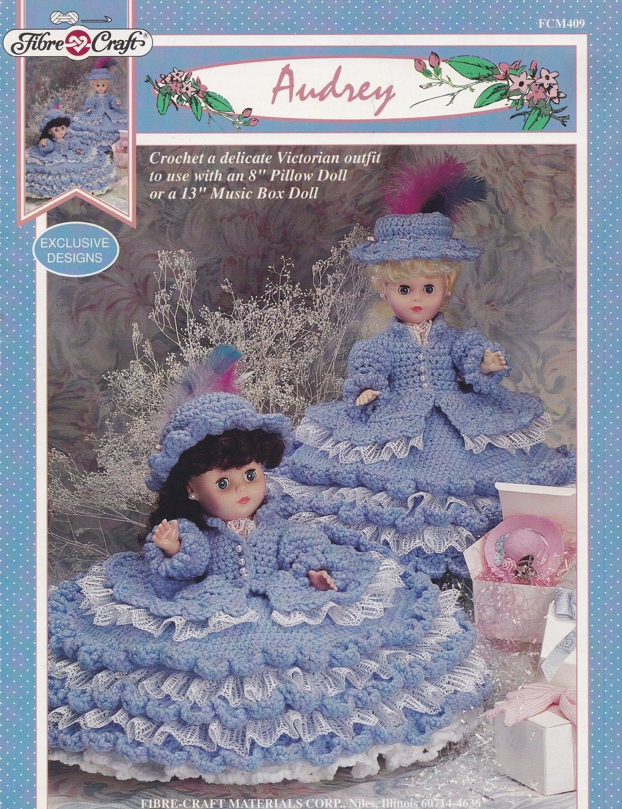 Audrey, Fibre Craft Pillow or Bed Doll Clothes Crochet Pattern ...
