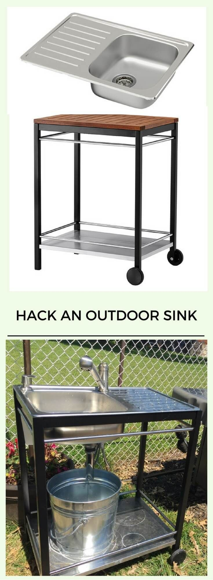Ikea Outdoor Küche Hack Outdoor Sink A Perfect Summer Project Ikea Hacks Outdoor