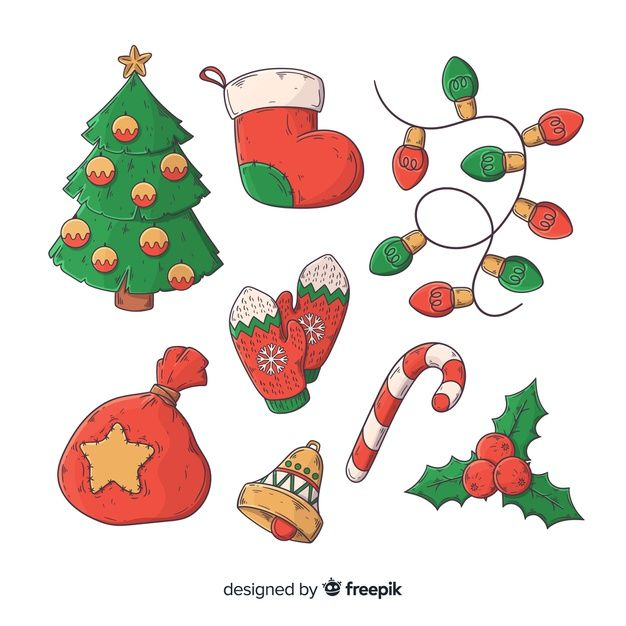 Hand Drawn Christmas Element Collection Free Vector Free Vector Freepik Vector Freechristmas Christmas Drawing Christmas Doodles Christmas Cards To Make