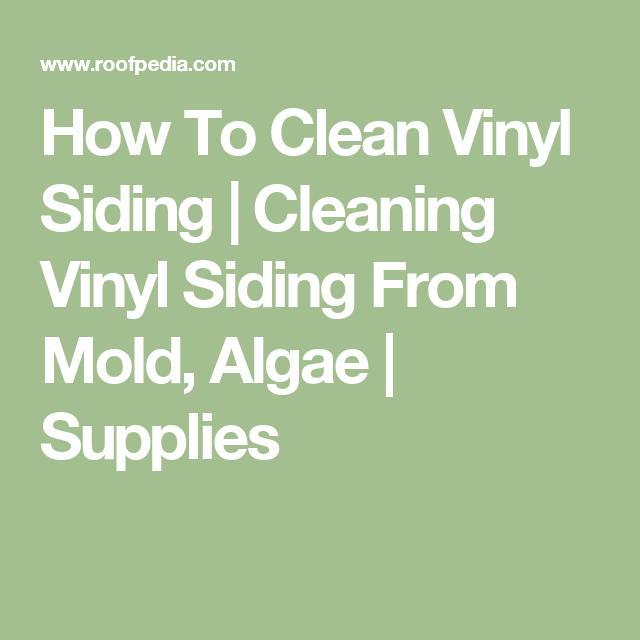 How To Clean Vinyl Siding Cleaning Vinyl Siding From