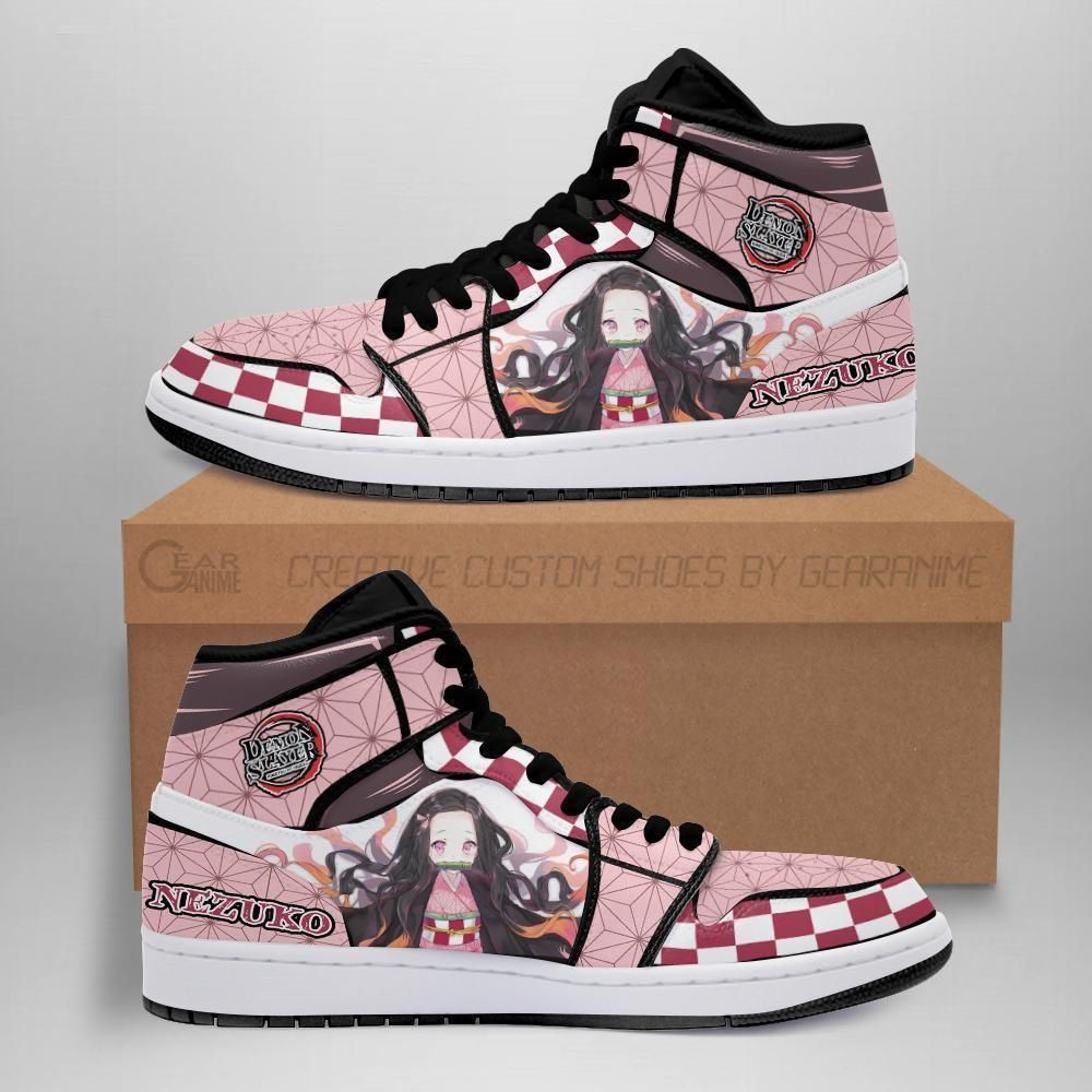 Demon Slayer Shoes - Nezuko Jordan Sneakers Costum