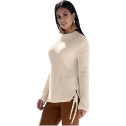 Photo of Amy Vermont, Pullover mit dekorativem Band, braune Amy Vermont
