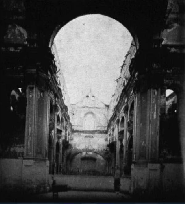 Iglesia de la Merced, después del incendio de 1931