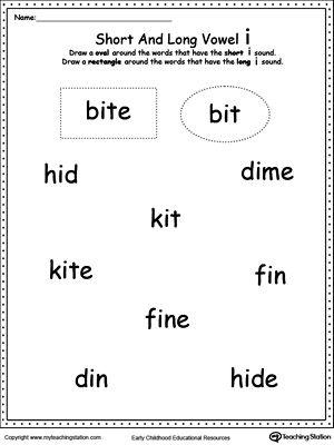 vowels short or long i sound words long vowels printable worksheets and worksheets. Black Bedroom Furniture Sets. Home Design Ideas