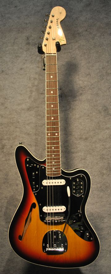 fender special edition jaguar thinline in 3 tone sunburst