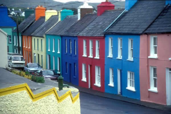 Ireland, where the government doesn't regulate the colour of your house.