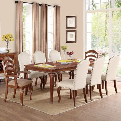 Infini Furnishings Flavien Ii 9 Piece Dining Set Dining Chairs