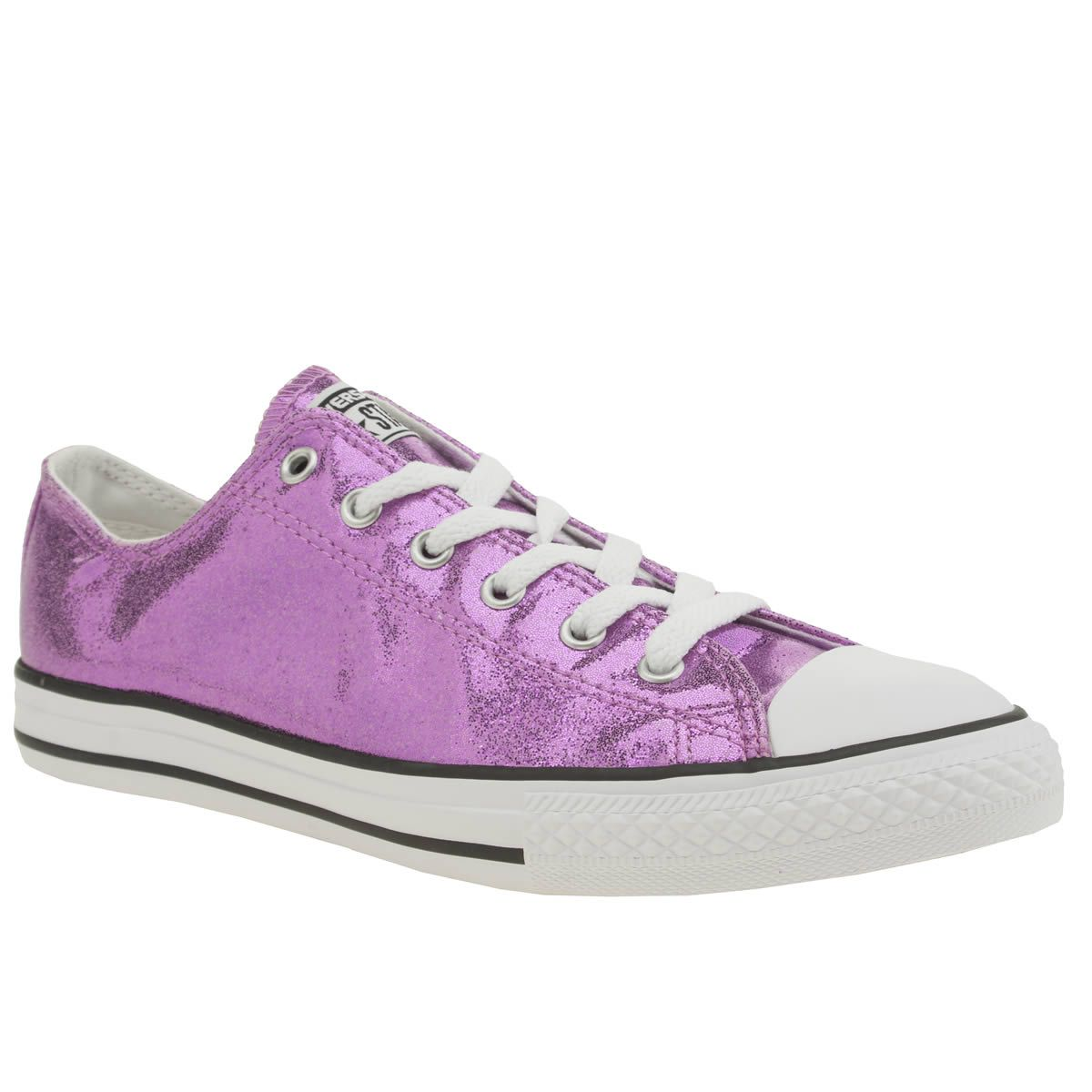 54755be23e47 kids converse pink all star ox glitter girls youth