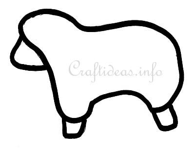 Easter Crafts - Free Craft Template for a Sheep | Templates ...
