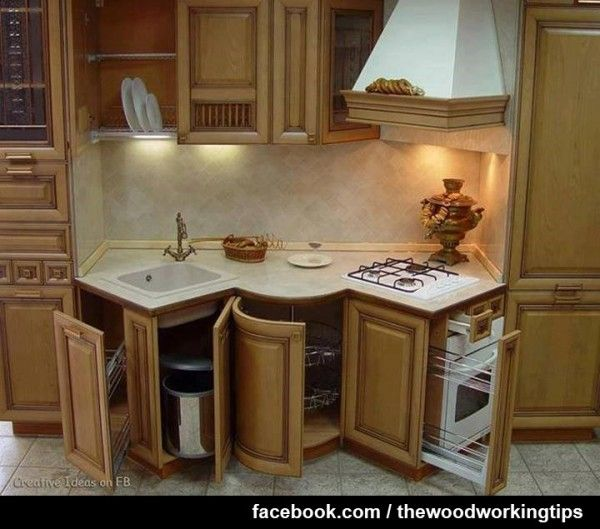Awkward Kitchen Layout Solutions: More Woodworking Projects On Http://www.woodworkerz.com
