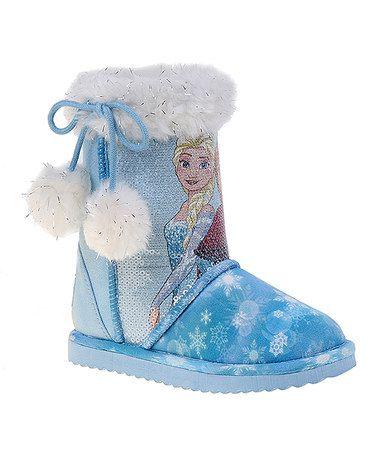 4b5414cc517d Love this Frozen Blue   White Faux Fur Winter Boot on  zulily!  zulilyfinds