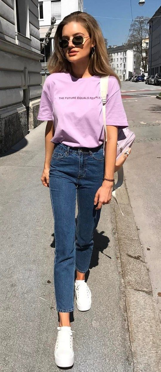 cool outfit t shirt + jeans