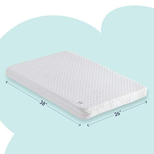 Pack n Play Mattress Pad Dual Sided with Firm Side for Babies  Soft Memory Foam Side