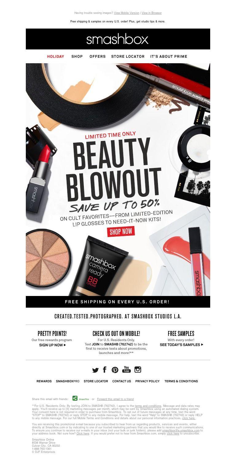 Smashbox It's HERE. Beauty. Blowout. Sale. Cosmética