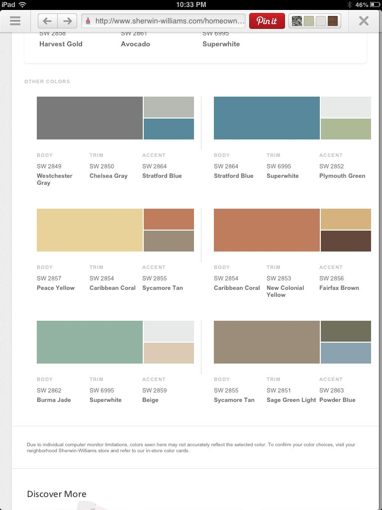 Sherwin Williams Color Palette Colors Http Wwwsherwin Williamscom Homeowners Color Find And