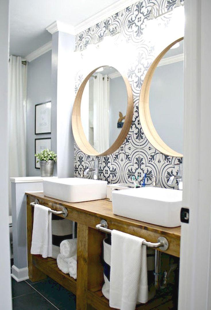 35 Farmhouse Master Bathroom Ideas   Pinterest   Farmhouse style ...