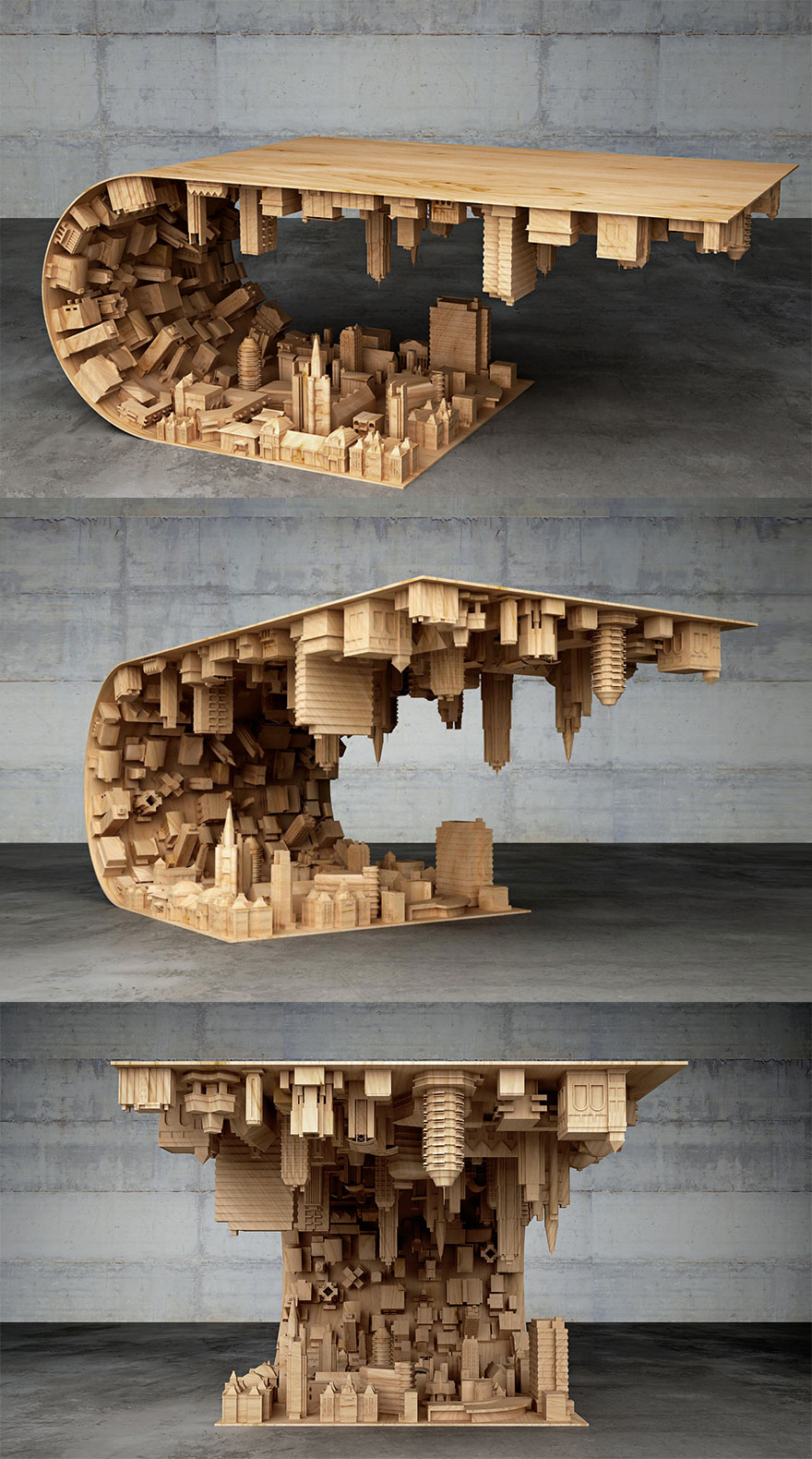 Couchtisch Panda Inception-inspired Coffee Table Bends A City In Your