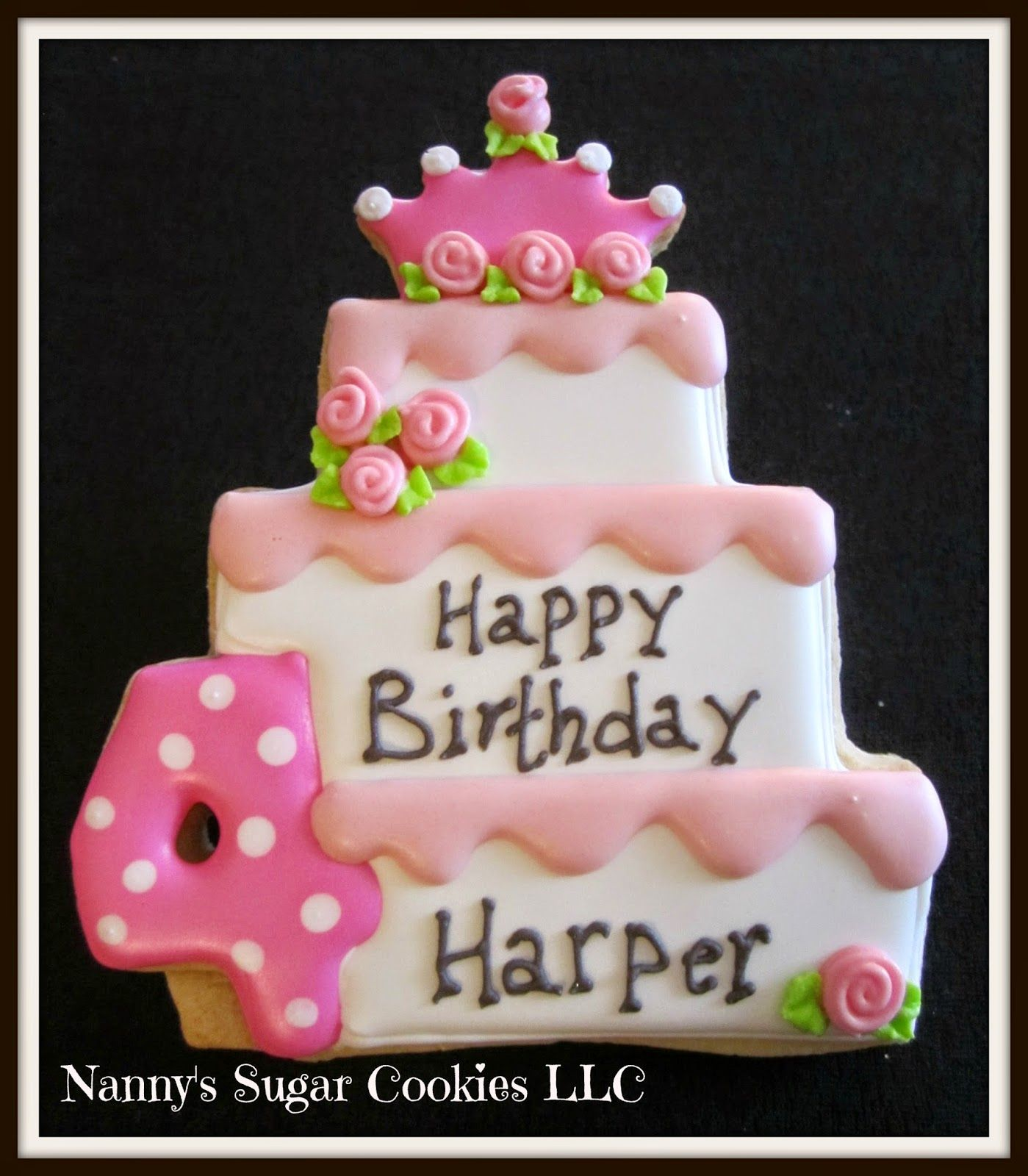 Nannys Sugar Cookies LLC Cookies for a Birthday Princess