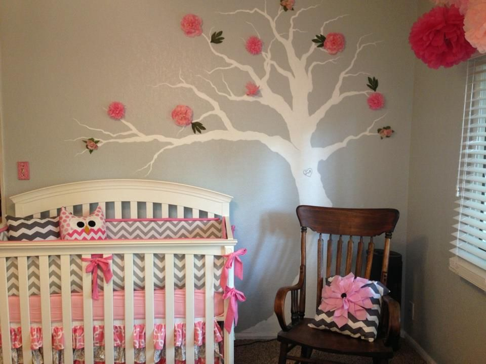 Pink And Grey Chevron Nursery