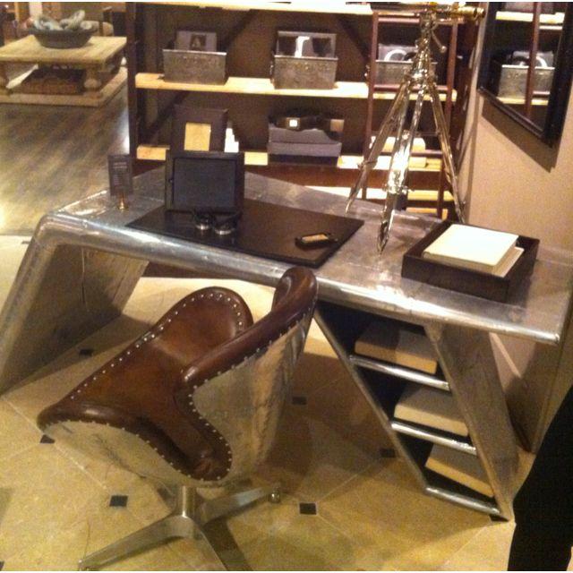 Restoration Hardware Airplane Desk: Airplane Desk! At Restoration Hardware.