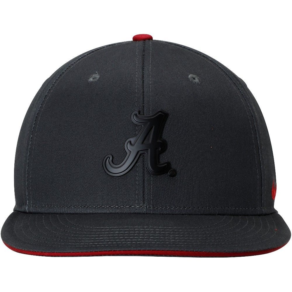 quality design ea604 3a045 ... new zealand alabama crimson tide nike matte true adjustable snapback hat  anthracite d3502 9bd08