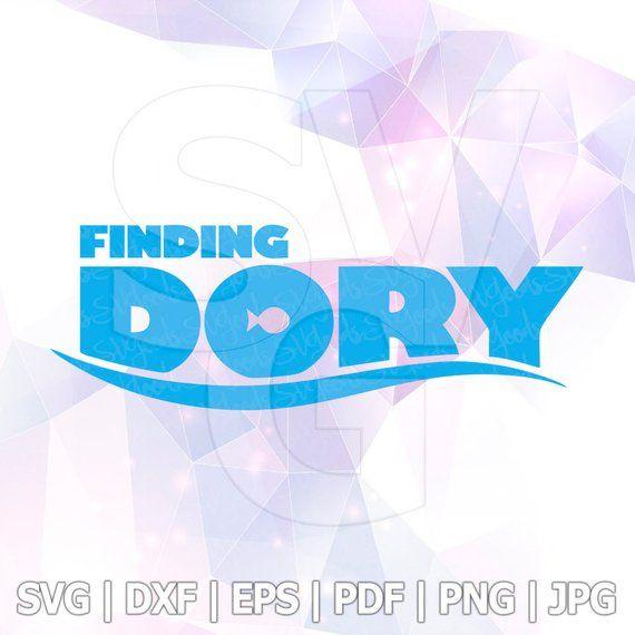 Finding Dory Logo Svg Nemo Disney Cricut Silhouette Shirt Birthday Party Supplies Decorations Decal Decor Clipart Vinyl Stencil Template Dxf Finding Dory Silhouette Vinyl Dory