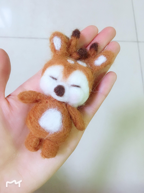 Craft Kits Felting Beginner Children Lovely Sika Deer Needle Felting Kits