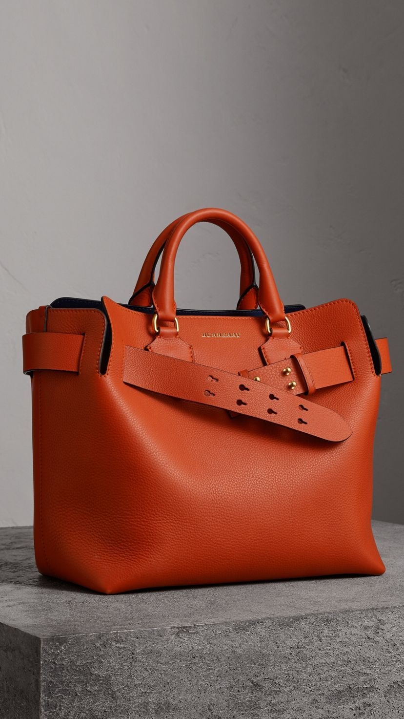 b9362f85c4e3 The Medium Leather Belt Bag in Clementine - Women in 2019