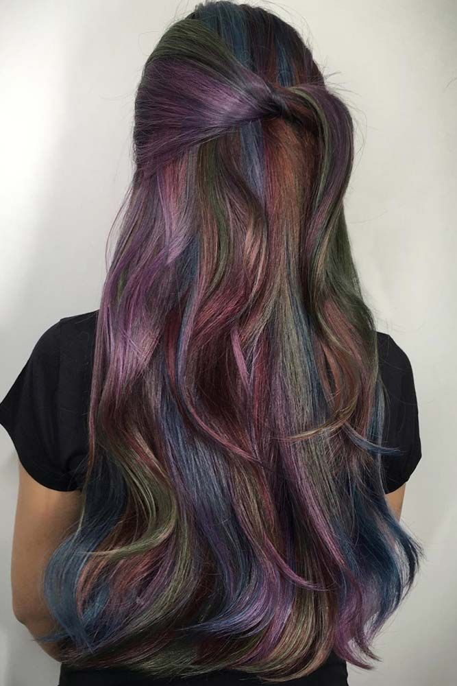 27 Incredible Looks With Oil Slick Hair | Advice, Oil and Hair coloring