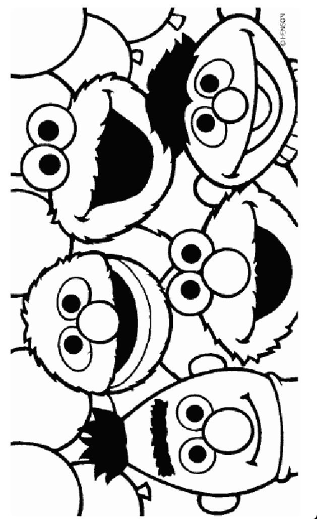 Sesame Street Coloring Pages Image By Erica Mager Wendell On