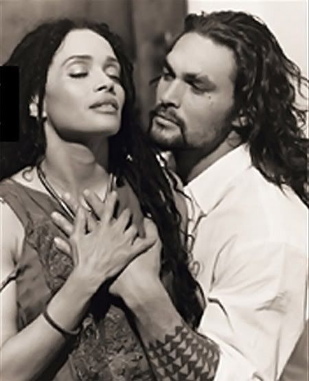 Omg!!! I love this picture!!!!!!!!!  Jason Momoa & Lisa Bonet
