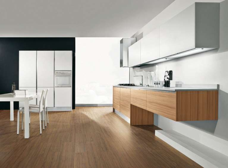 Mobili Sospesi In Cucina Cucine In Legno Scuro Cucine Cucine In Legno Chiaro