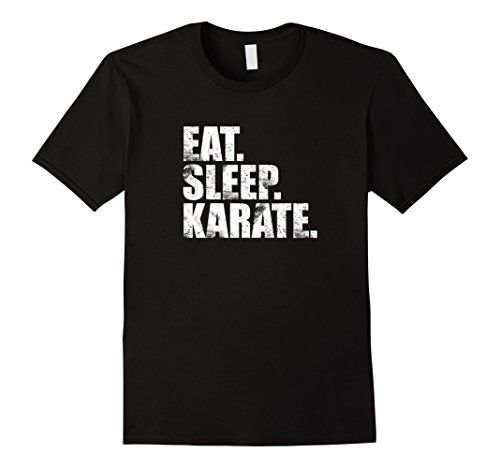 Men's Eat Sleep Karate T-Shirt 2XL Black KaratekaTeez…