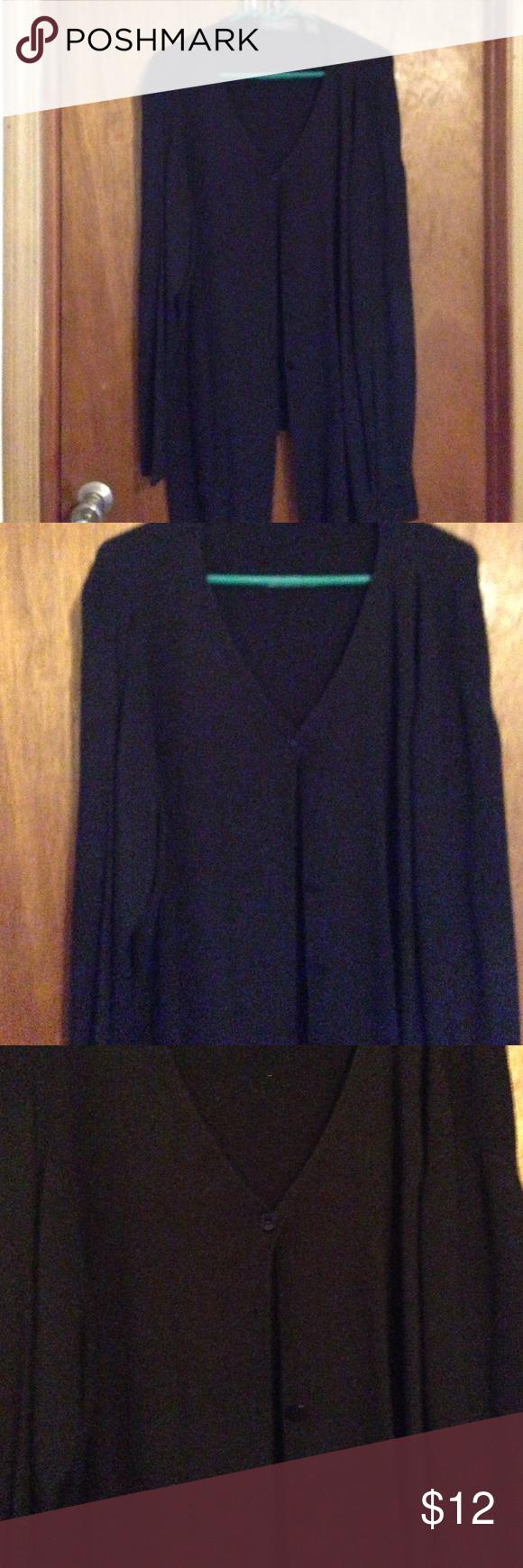 Long sleeve medium weight long black cardigan   Fabric tags, Long ...