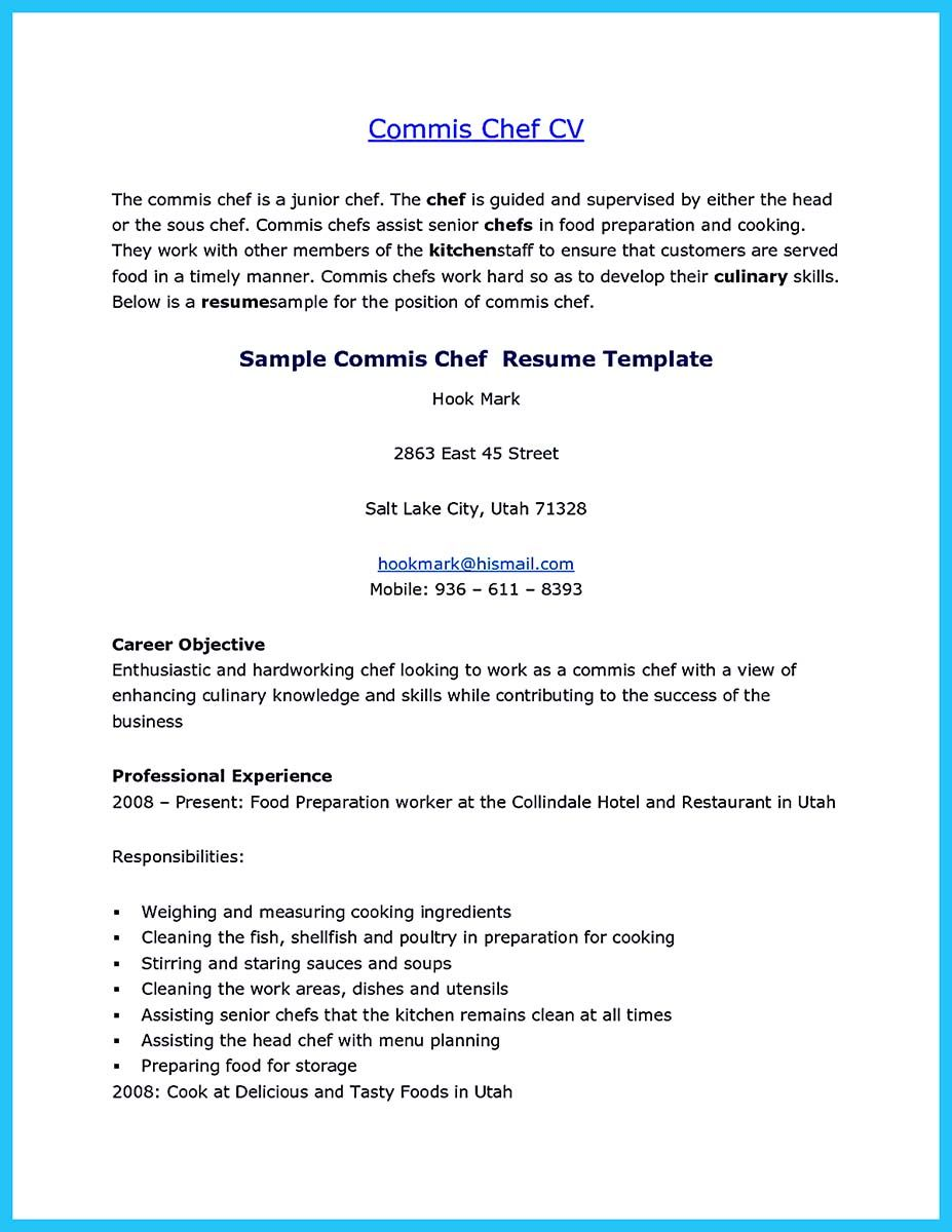 awesome Excellent Culinary Resume Samples to Help You