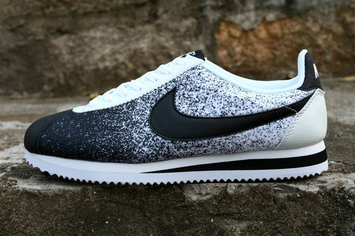 Nike Cortez Black And White Nylon